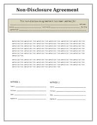 non disclosure agreement template best business template
