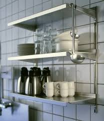 Metal Kitchen Shelves by Wonderfull Metal Wall Shelves For Kitchen Remodel Interior