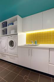 laundry room design idea raise your washer and dryer up off the