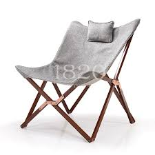 Butterfly Folding Chair Solid Wood Furniture Fabric Butterfly Garden Terrace Chair