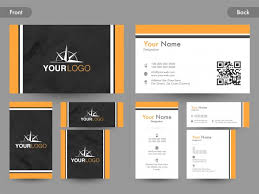 Business Cards Front And Back Creative Business Card Visiting Card Or Name Card Design With