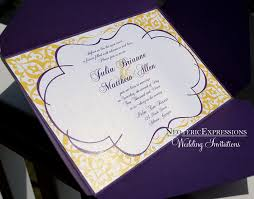Purple Wedding Invitations Yellow And Purple Wedding Invitations Sunshinebizsolutions Com
