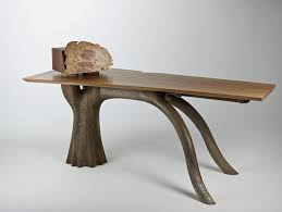 unique desk inspired by evergreen oak trees stumpy desk and