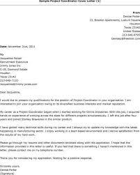 Sample Resume Of Project Coordinator Sample Project Coordinator Cover Letter Cover Letter For A Sales