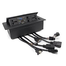conference table electrical accessories amazon com conference table connectivity power data box hdmi vga
