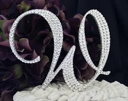 w cake topper gorgeous swarovski wedding cake toppers 6 in