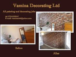 painting decorating laminate flooring and tiling in walnut
