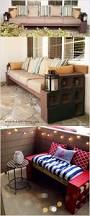 built in concrete patio benches bench decoration