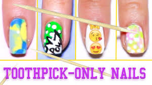 easy nail designs with toothpicks step by step