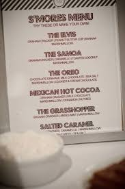 Firepit Menu Smores Bar For A Around The Firepit For Next Summer