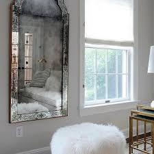 white sheepskin living room pouf design ideas