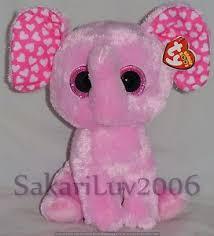 2016 ty beanie boos sugar pink elephant medium buddy 9