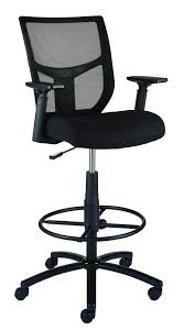 tall office chairs for standing desks staples cabal mesh and fabric stool black staples