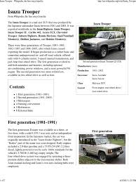 2 jackaroo isuzu trooper wikipedia pdf automobile layouts land