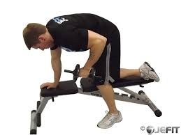 Bench Exercises With Dumbbells Dumbbell Tricep Kickback Exercise Database Jefit Best