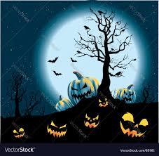 halloween pumpkin patch royalty free vector image