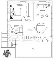 garage apartment plan 30030 total living area 687 sq ft 1