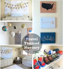 Travel Theme Our Travel And Adventure Themed Nursery Glitter And Dust