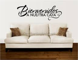 Home Letters Decoration by Decor Spanish Wall Decal Home Decoration In Wall Stickers From