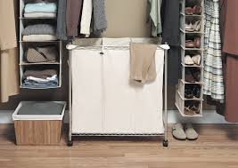 Laundry Sorter Cabinet 3 Bag Laundry Sorter And Hanger Organizing A 3 Bag Laundry
