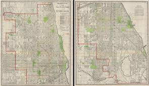 chicago map streets new number guide map of chicago geographicus antique