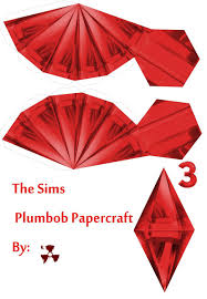 plumbob headband the sims plumbob papercraft by killero94 on deviantart