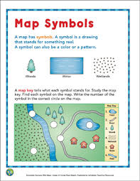 printable map key map symbols map skills printable maps and skills sheets