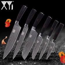 sets of kitchen knives xyj damascus veins stainless steel knife sets lightweight effort
