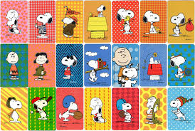 snoopy cards assorted back design of hallmark peanuts mini decks united