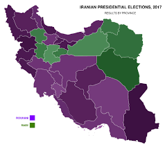 2000 Election Map Iranian Presidential Elections 2017 By Province 2000 X 1785