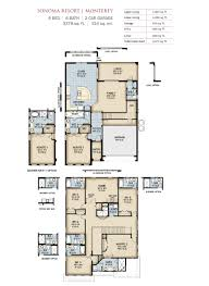 monticello second floor plan sonoma resort vacation homes by park square homes
