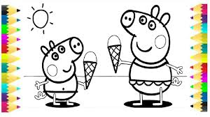 peppa pig coloring pages for kids peppa coloring book coloring