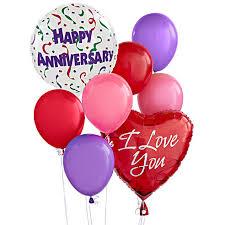 heart balloon bouquet anniversary balloons at send flowers
