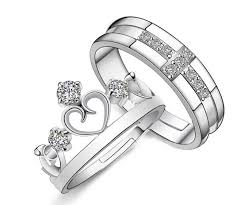 jewelry couple rings images Wedding rings for men and women 925 sterling silver cross crown PNG