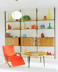 mid century modern bookcase dining room midcentury with mid