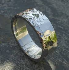 mens wedding rings uk hammered silver steel wedding ring love2have in the uk