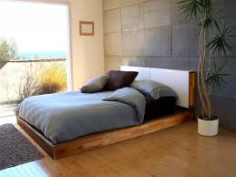 Minimalist Bed Bedroom Cozy Modern Minimalist Bedroom With Natural Wooden Floor