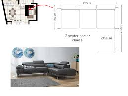 is this leather l shaped sofa too big for my apartment living room