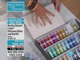 martha stewart crafts ultimate glitter and tool kit youtube