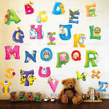Wall Decal Nice Wall Letter Decals For Nursery Vinyl Wall - Alphabet wall decals for kids rooms