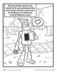 wizard oz coloring pages worksheets education