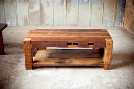 coffee table handsome home furniture reclaimed wood and metal