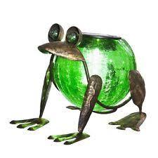 glass frog statues ornaments ebay