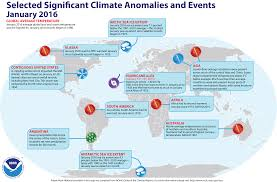 North America Climate Map by Global Climate Report January 2016 State Of The Climate