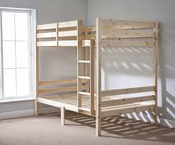 Solid Pine Bunk Beds 4ft 6 Heavy Duty Solid Pine Bunk Bed