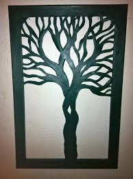 tree silhouette canvas cut out 15 x 23 custom made 86 00 via
