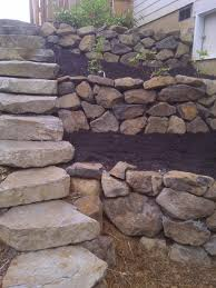 Ideas For Retaining Walls Garden by Rock Retaining Wall With Stairs For My Dream Garden Pinterest