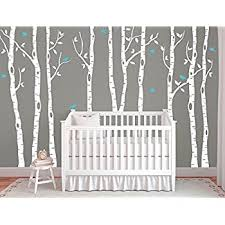White Tree Wall Decal Nursery Large Birch Tree Decals For Walls Wall Mural Decal