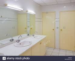 interior design of a clean public toilet stock photo royalty free