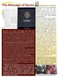 muhammad asad the message of the quran muhammad asad by yahya mubashar issuu